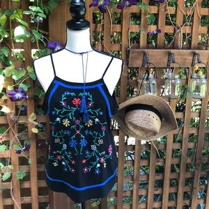 Embroidered Summer evening tank